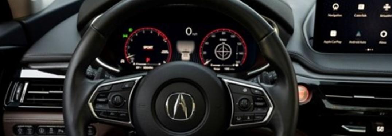 2022 Acura MDX Steering Wheel and Multi-Information Display