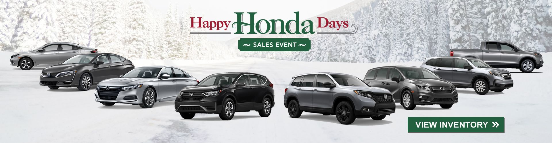 Don't miss the Happy Honda Days Sales Event near Macomb IL