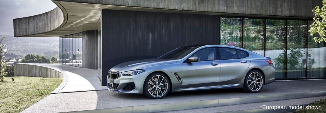 2020 BMW 8 Series Gran Coupe exterior driver side European model shown