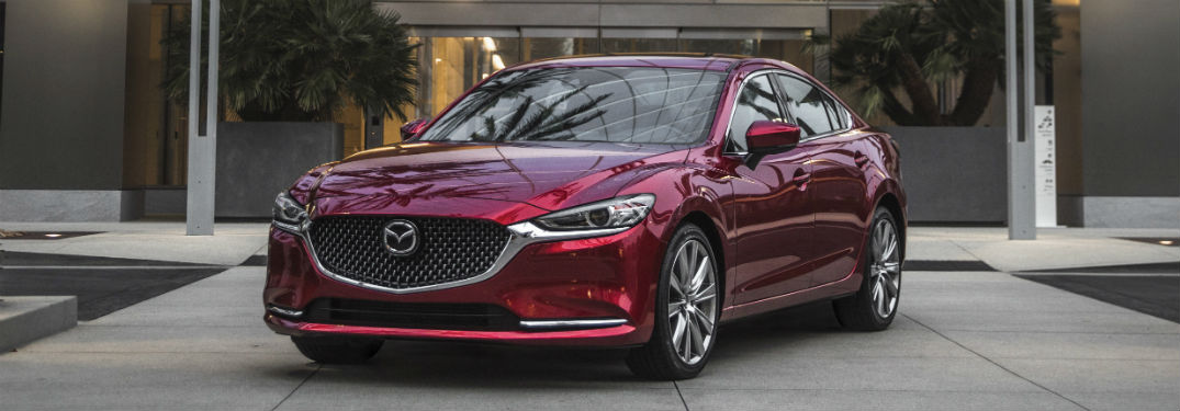 front view of a red 2018 Mazda6