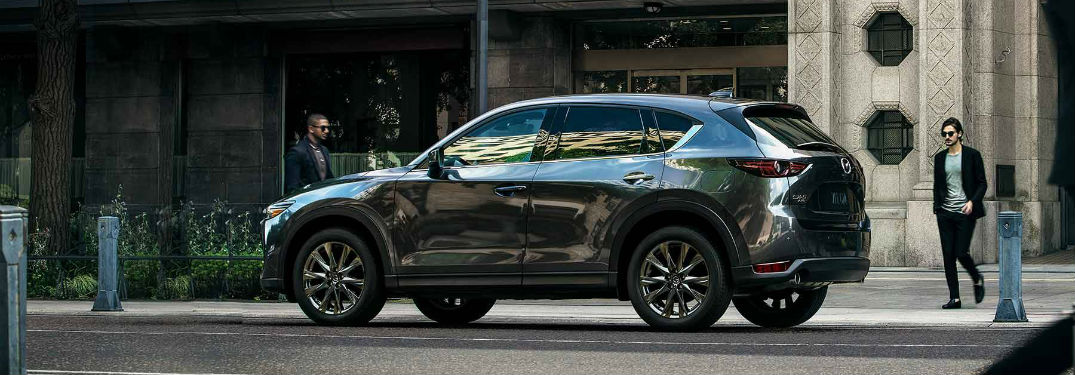 side view of a black 2019 Mazda CX-5