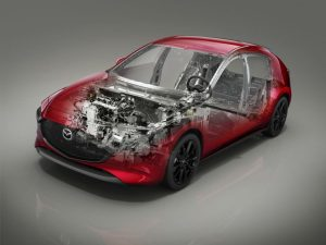 see through animation of a 2019 Mazda3