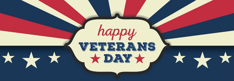 Happy Veterans Day sign