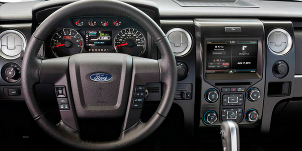 Ford F  Steering Wheel Instrument Cluster And Center Console