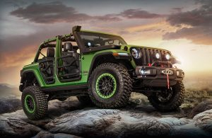 2018 Jeep Wrangler Side View of Green Exterior