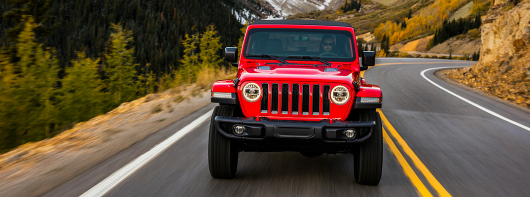 2018 Jeep Wrangler Front View of Red Exterior
