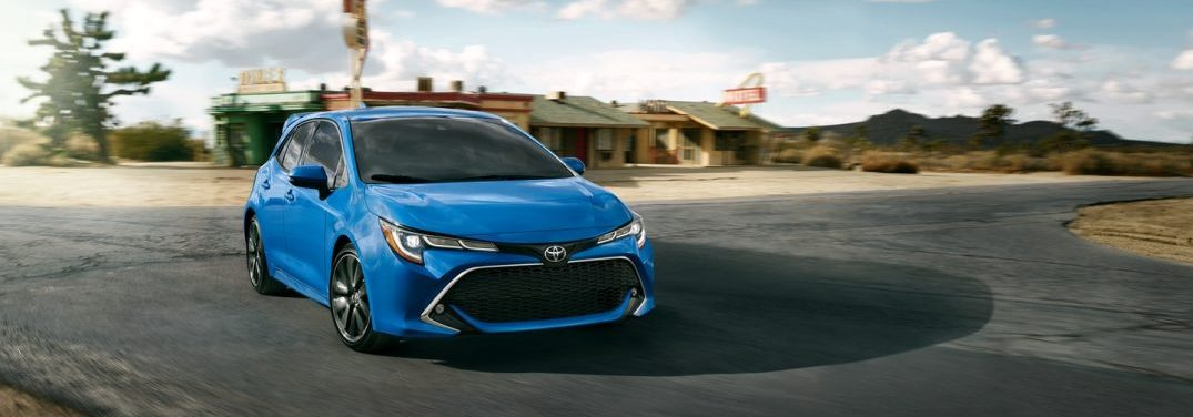 front view of the 2019 Toyota Corolla Hatchback