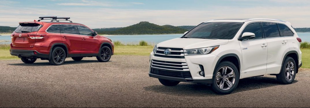 New 2019 Toyota Highlander Exterior Color Options