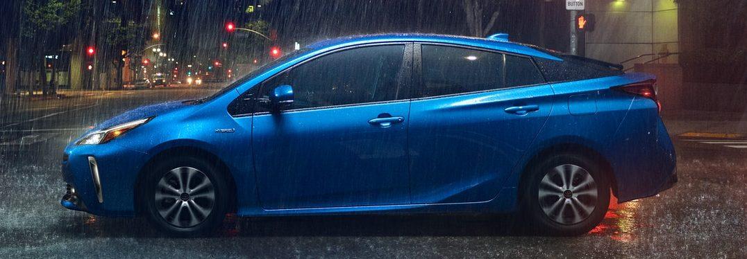 2019 Toyota Prius in the rain