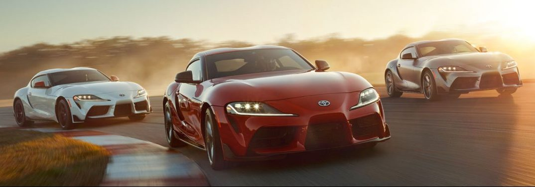 2020 Toyota Supra driving on racetrack