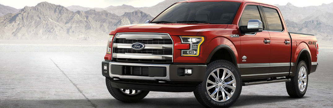 Ford F-150 parked showing side profile