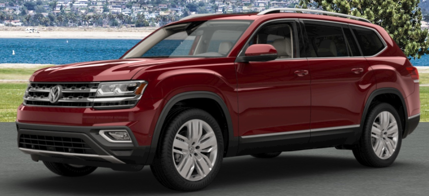 2018-VW-Atlas-Fortana-Red-Metallic-side-view_o - Volkswagen of Midland Odessa