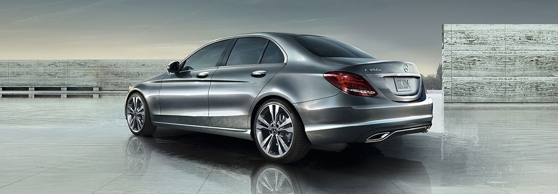 2018 Mercedes-Benz C-Class silver back view