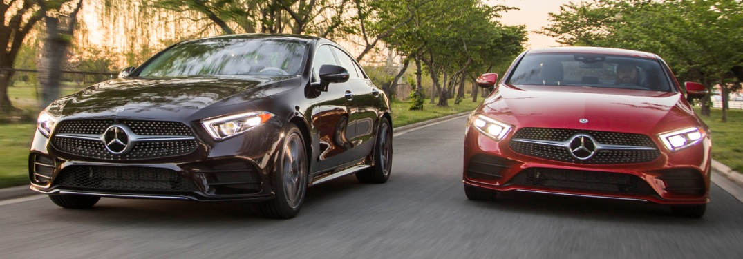 2019 Mercedes-Benz CLS black and red front view