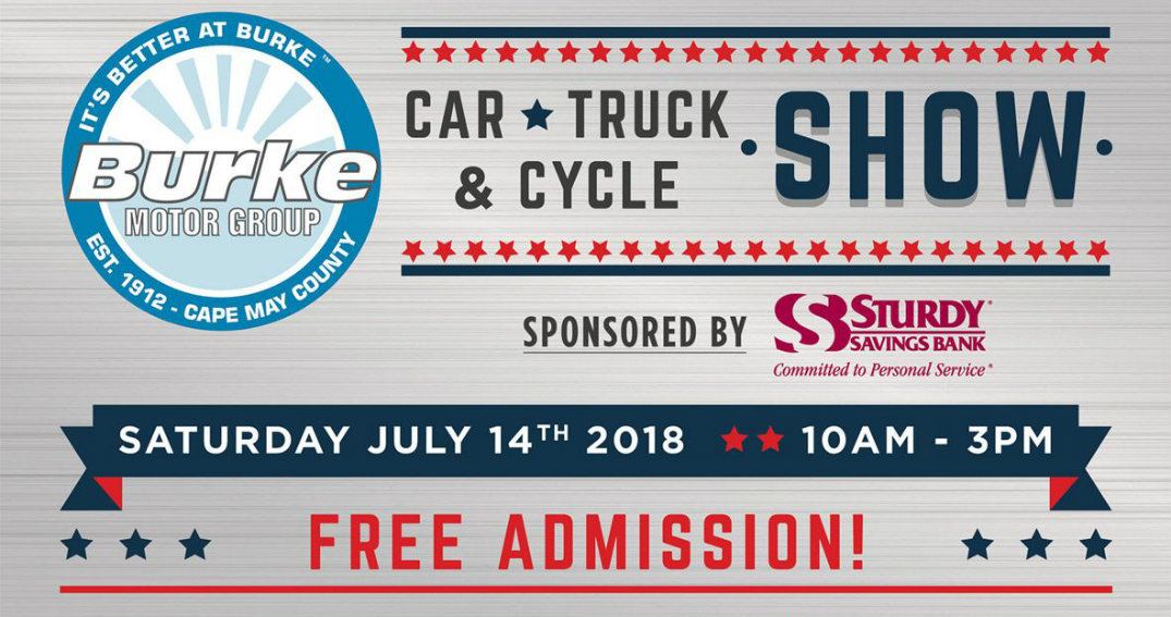 Summer 2018 car shows and events near cape may county nj for Burke motor group used cars