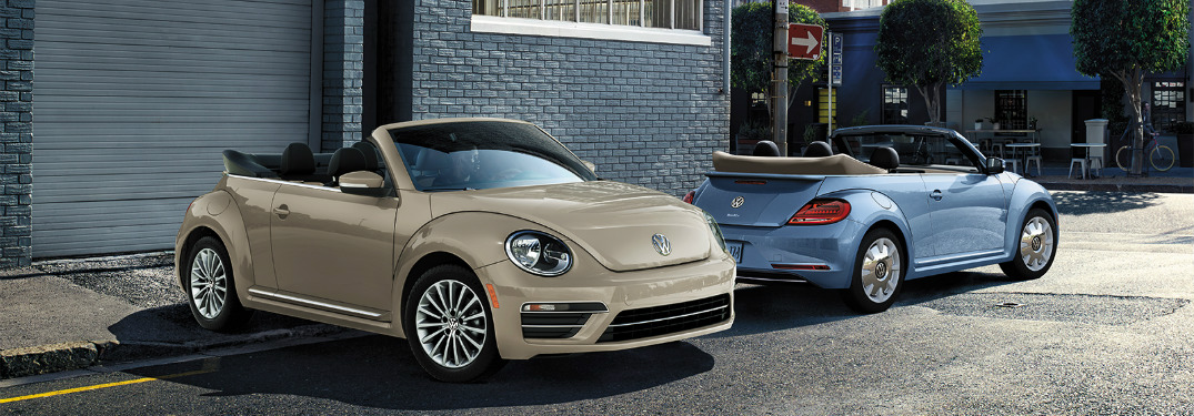 beige and blue vw beetle final editions