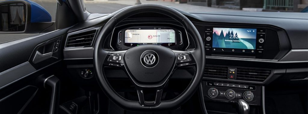 2019-VW-Jetta-Driver-Seat-View-of-Steering-Wheel-Instrument-Cluster