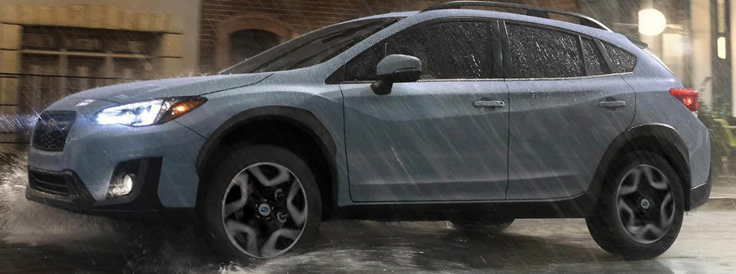 2019 Subaru Crosstrek Side View of Gray Exterior