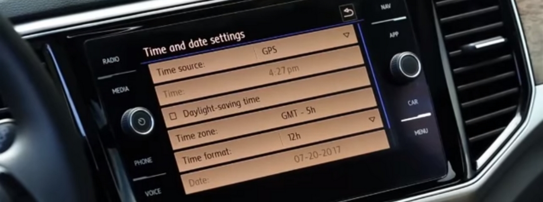Time and Date Settings in a Volkswagen Vehicle