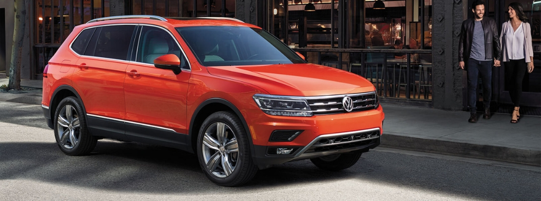 2019 Volkswagen Tiguan Side View of Red Exterior