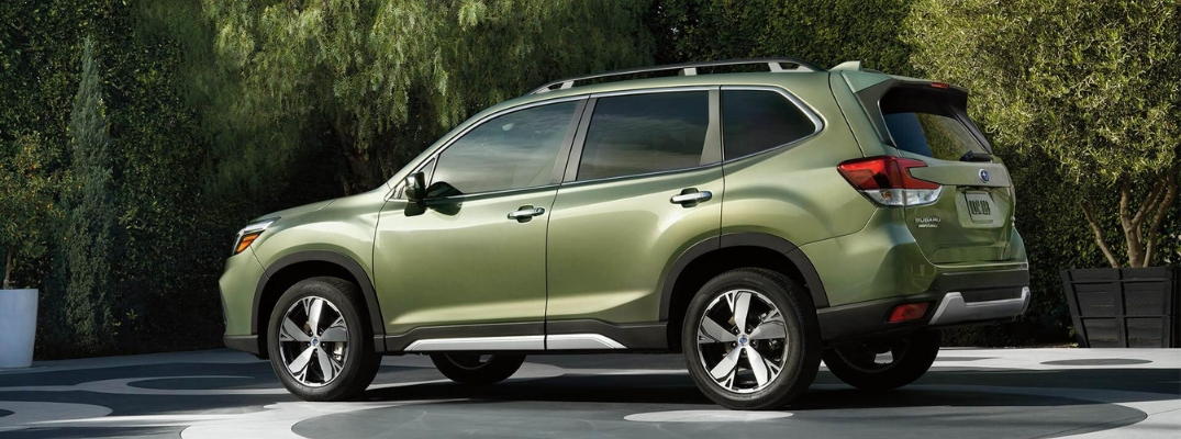 2019 Subaru Forester Side View of Green Exterior