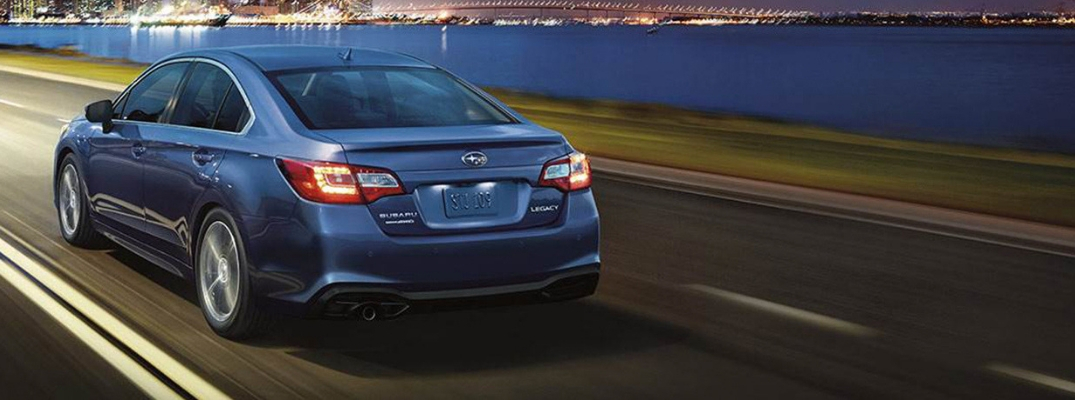 2019 Subaru Legacy Rear View of Blue Exterior