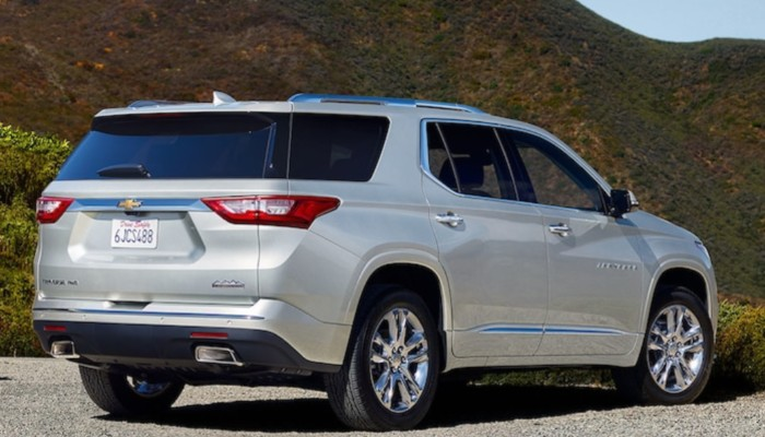 2019 Chevy Traverse parked on a gravel road