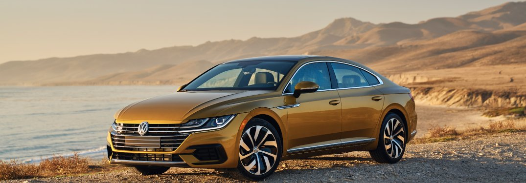 2019 Volkswagen Arteon parked on a beach