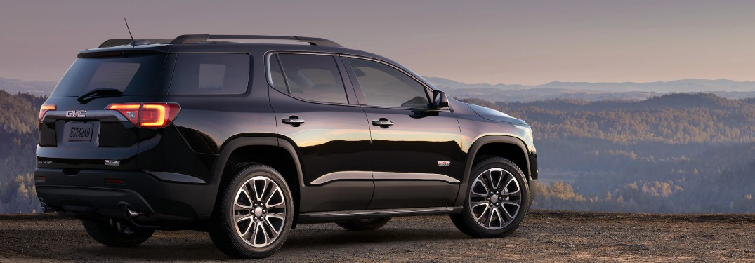 2019 GMC Acadia parked on a mountain