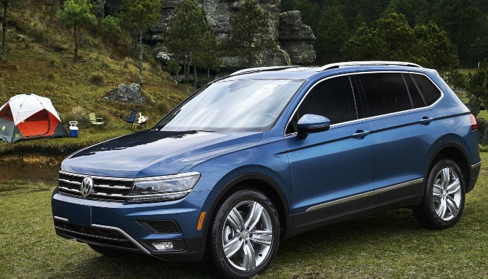 2020 Volkswagen Tiguan parked at a camping ground