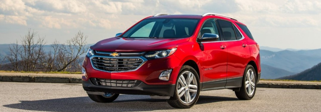 2020 Chevrolet Equinox parked in a lot overlooking a mountain range