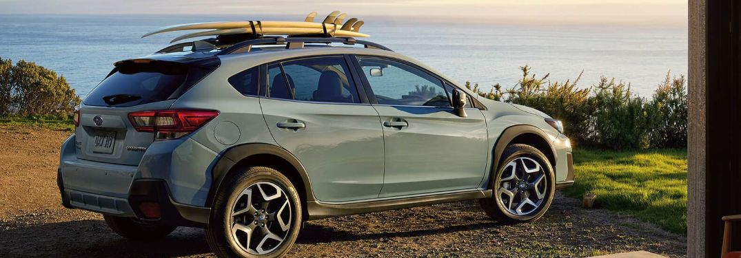 2020 Subaru Crosstrek parked on a trail
