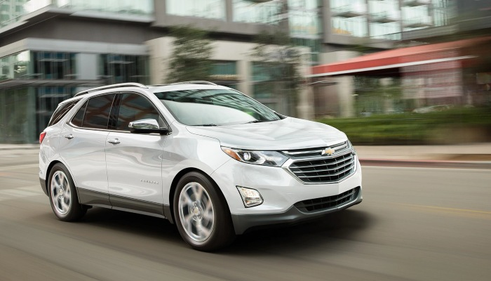 2019 Chevrolet Equinox driving in a town