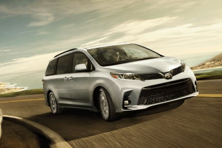 2018 Toyota Sienna driving on the highway