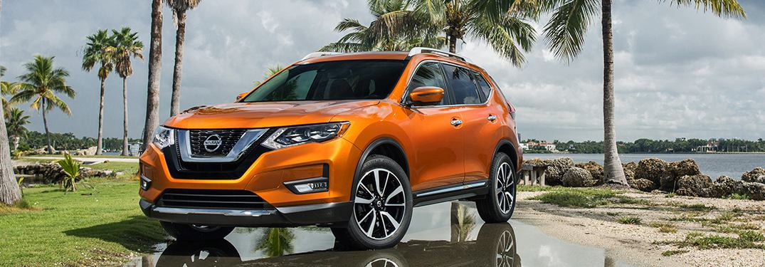 2018 Nissan Rogue parked on a beach