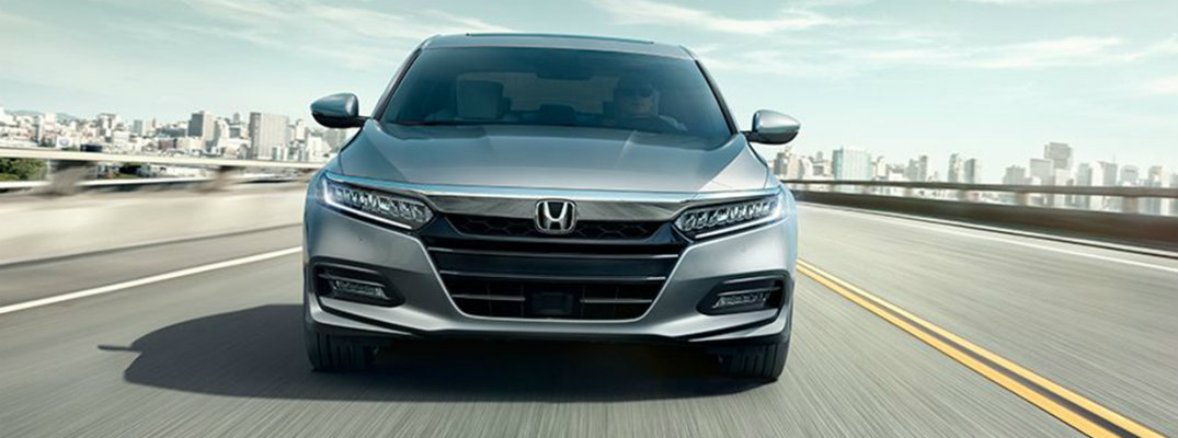 Front profile of silver 2018 Honda Accord Sedan