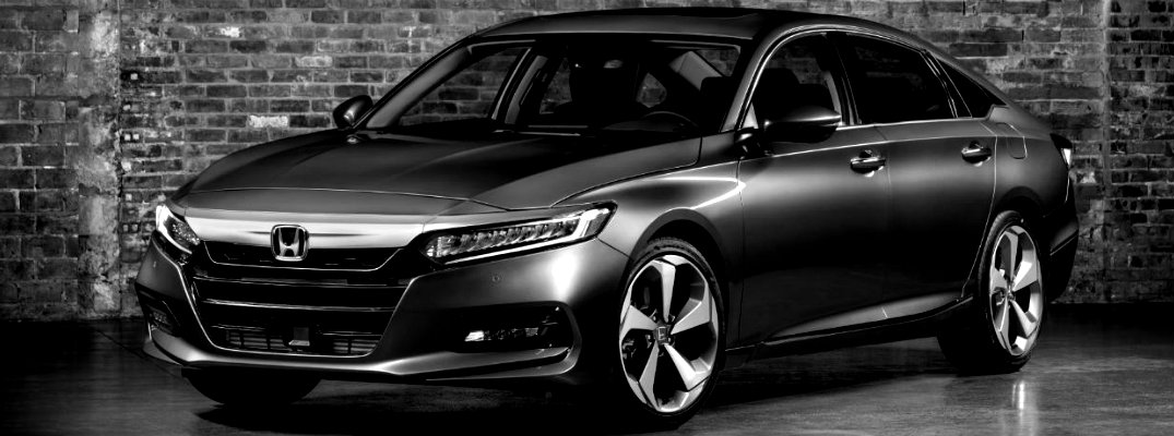 Black & White image of 2018 Honda Accord Touring