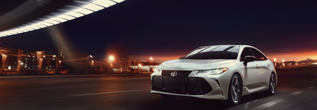 2019 Toyota Avalon parked on a dark road at night