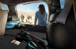 2018 Ford Explorer rear cargo area