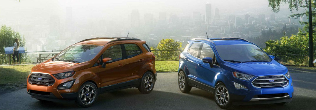 Technology features and comfort options fill interior of new 2018 Ford EcoSport crossover SUV