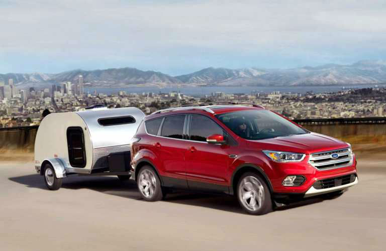 2019 Ford Escape towing a trailer