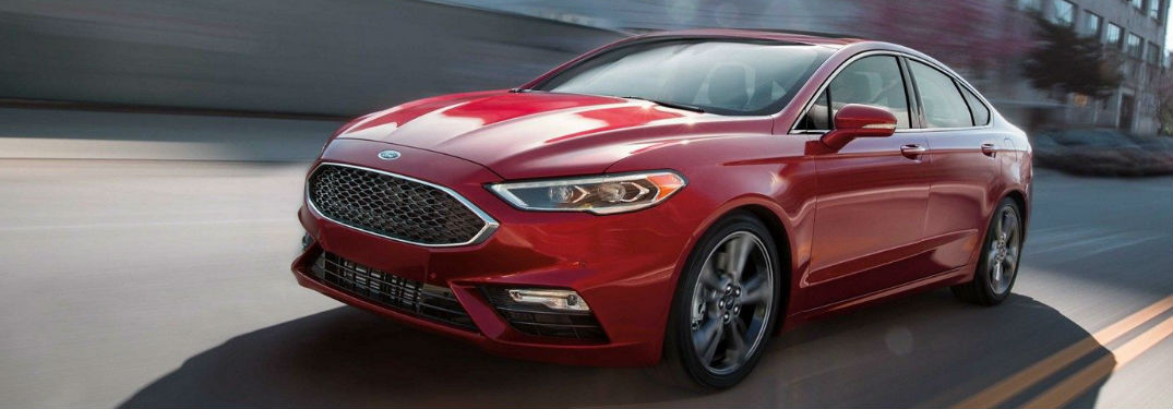 2019 Ford Fusion driving on a road