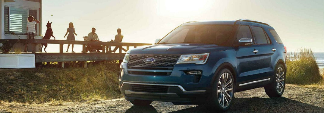 Three rows of seating and spacious interior of new 2019 Ford Explorer offers plenty of passenger and cargo space