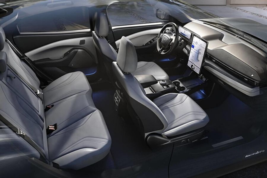 Interior seats and dash of 2021 Ford Mustang Mach-E
