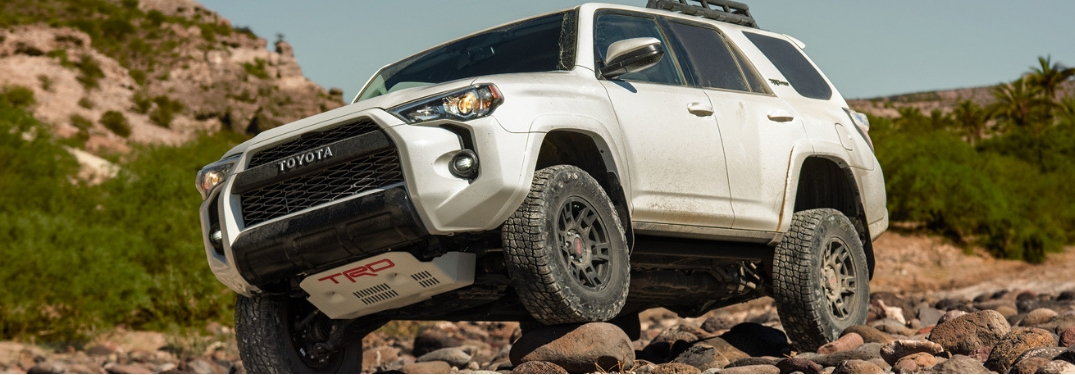 2019 4Runner TRD Pro driving on uneven ground