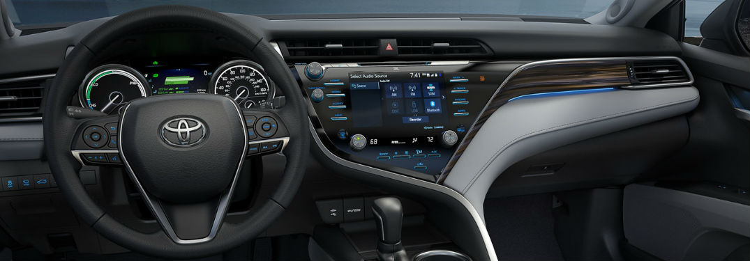 Entune display in toyota vehicle