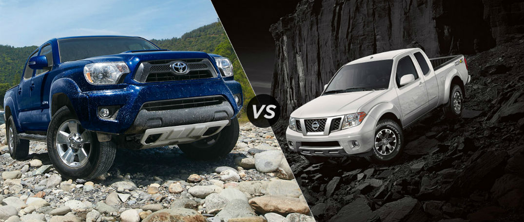 2015 toyota tacoma blue small pickup comparison nissan frontier