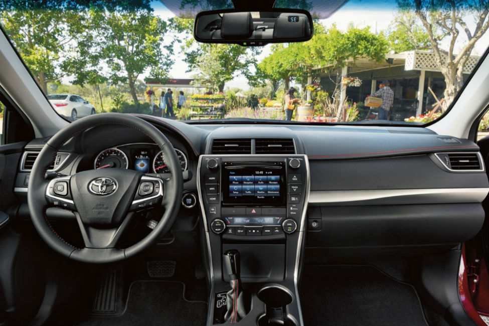Driver cockpit view of 2017 Toyota Camry