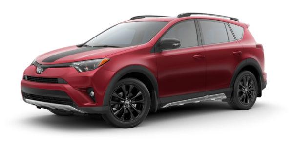 Toyota RAV4 in Ruby Flare Pearl