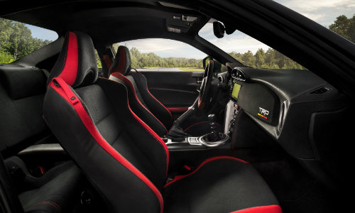 Front two seats of 2019 Toyota 86 TRD Special Edition